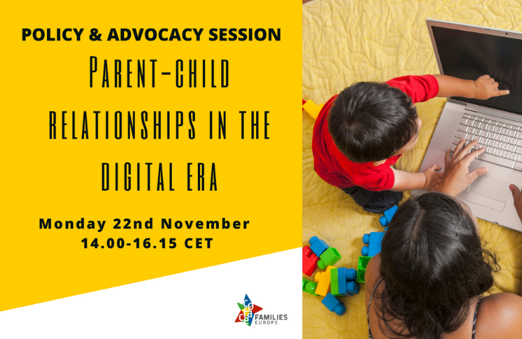 COFACE Event. 22 November 2022:  Parent-child Relationships In The Digital Era